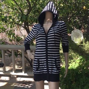 Juicy Couture Hooded Long Zip Cardigan Sweater